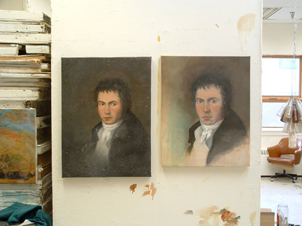 Double portrait of Beethoven as a young man