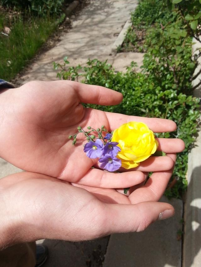 Broadus brings flowers