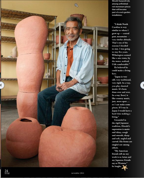 Hiroshi Sueyoshi(Wrightsville Beach Magazine)